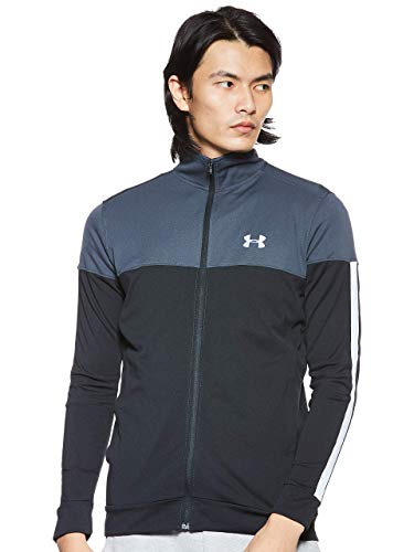 Under Armour Sportstyle Pique Track Jacket Chaqueta, Hombre, Gris (Stealth Gray/White), S