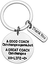 Sportybella Coach Keychain, Coach Gifts, A Good Coach Can Change a Game But a Great Coach Can Change a Life Keychain