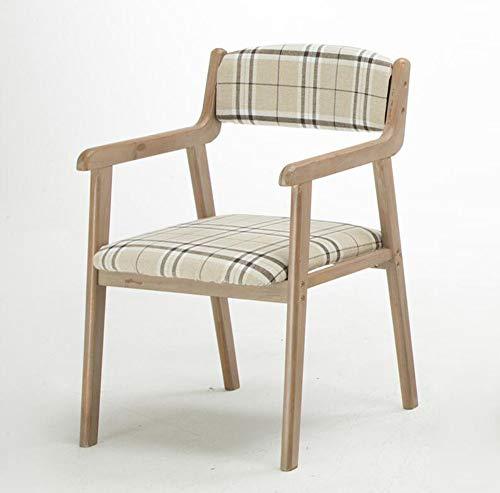FENG Effen houten eetkamerstoel/thuis Vintage eettafel en stoelen/bureaustoel/recreatieve kruk/rugstoel FFN