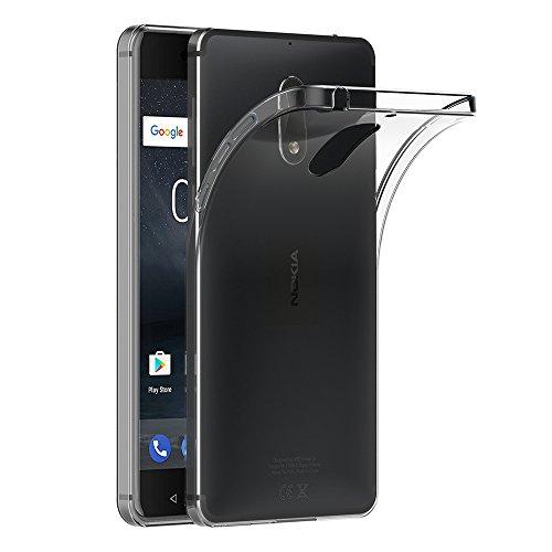 AICEK Nokia 6 Hülle, Transparent Silikon Schutzhülle für Nokia 6 Case Crystal Clear Durchsichtige TPU Bumper Nokia 6 Handyhülle