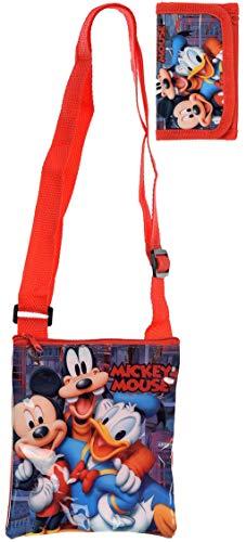Disney Micky Mouse schoudertas schoudertas met bijpassende portemonnee