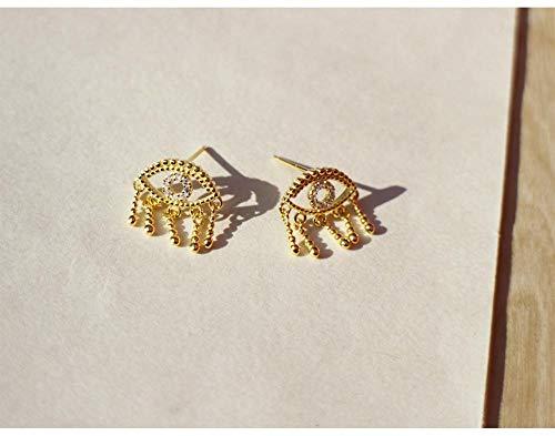 nobrand 925 Silber Ohrring Mode Übertriebene Persönlichkeit Auge Dämon Auge Ohrring Einfache süße Trend Mädchen Frau