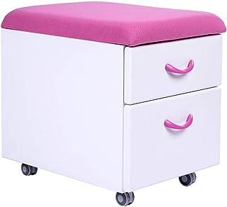 WSDSX Chaise de Bureau Tabouret Armoire de Lecture parentale Enfants Apprentissage Armoire Poussoir Tabouret à roulettes 2...