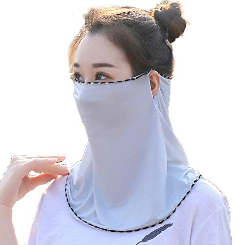 Anwasd7 Uv Protection Ice Silk Veil Zonnebrandcrème Full Face Shading Protection Rijden Zomer Hoofddeksels Neck Guard Vrouw Kleine Bib Snowboard