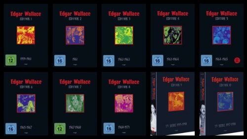 EDGAR WALLACE - Box 01 02 03 04 05 06 07 08 09 10 Complete Collection 41 DVD German Grusel Filme EDITION