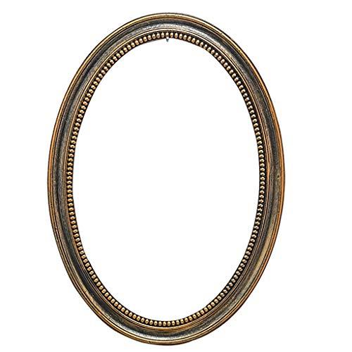 JYXJJKK Espejo Espejo de baño Retro Decorativo de Pared Marco de Espejo de Maquillaje Espejo Oval de Origen de Espejo (Size : 39×59cm)