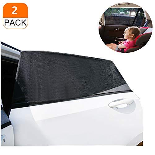 Parasol universal para ventana lateral trasera de coche, alta elasticidad, protege al bebé y mascota, transpirable, de rayos UV, diseño de doble capa, se adapta a la mayoría