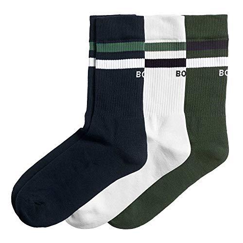 Bjorn Borg Herren Bb Double Stripe Ankle Crew Lässige Socken, Nachthimmel, 41-45