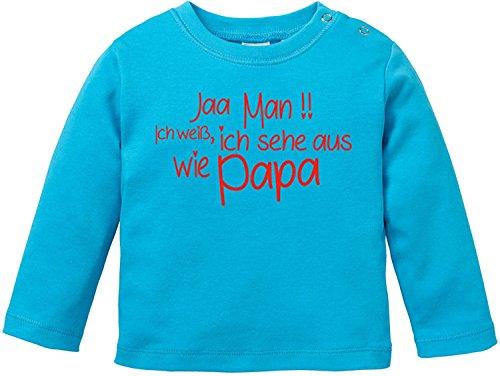 EZYshirt® Jaa Man ! Ich Weiss ich Sehe aus wie Papa Baby T-Shirt Longsleeve