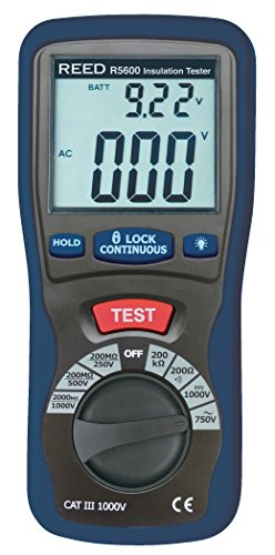 REED Instruments R5600 Insulation Tester and Multimeter (Megohmmeter),...