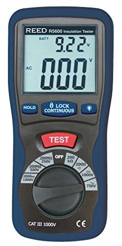 REED Instruments R5600 Insulation Tester and Multimeter (Megohmmeter),...