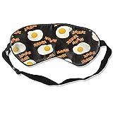 Schlafmaske für einen vollen Schlaf, Pizza, Bandana, weiche Augenmaske mit verstellbarem Riemen,...