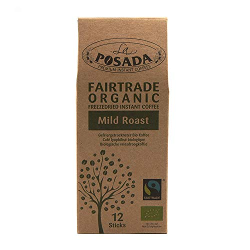 La Posada Instant Coffee, 100% Arabica Beans with Caramel, (4 x 50 g)