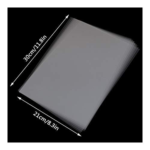 SMXGF 10 Stück A4 Inkjet Laser Druck Transparente Folie Fotopapier PCB Schablonen 30 x 21 cm