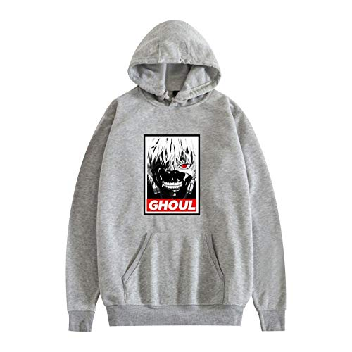 Tokyo Ghoul Hoodie Sweatshirt 3D-Druck Horror Kordeltasche Pullover Sportswear Unisex Hoody für Männer-A_XXXXL