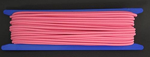 Gepolight–Cuerda elástica, 20m de diámetro 5mm neonrosa fluorescente (se enciende bajo Negro Luz)