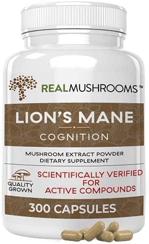 Lions Mane Mushroom Cognition Capsules (120 Capsules) Lions Mane Mushroom Powder Extract Capsules   Brain Supplement, Brain Vitamins, Focus Supplement
