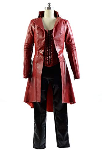 RedJade Captain America Civil War Avengers Scarlet Witch Wanda Outfit Cosplay Kostüm Damen XXL