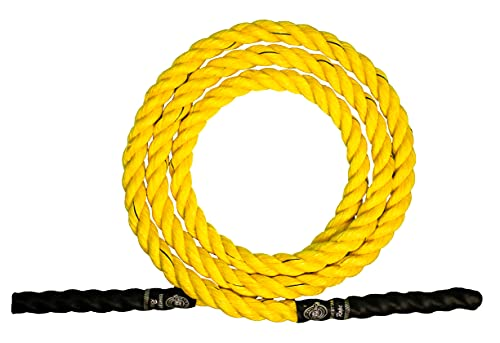 Esskay Uttam Rope Heavy Jump Rope,1 INCH Thickness/Length 10 FEET/Weight 750 GMS,NO Bearings,NO Separate Handle(USE of Gloves Recommended)