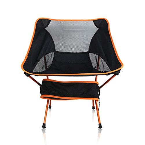 JYQ-SZRQ Campingstühle Klappbarer Tragbare Aluminiumlegierung Moon Chair Leicht Stühle Heavy Duty 150kg for Outdoor Angeln Beach Camp Picknick (Color : Orange)