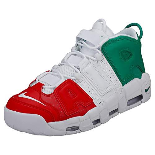 Nike Air More Uptempo '96 Italy QS, Zapatillas de Deporte para Hombre, Multicolor (University Red/White/Lucid Green 600), 46 EU