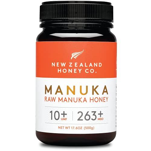 New Zealand Honey Co. Manuka Honig MGO 263+ / UMF 10+   Aktiv und Roh   Hergestellt in Neuseeland   500g