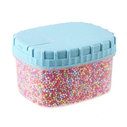 DIYASY 35000pc 2-3mm Rainbow Styrofoam Foam Ball Beads for DIY Crafts and Kids Homemade Slime Making
