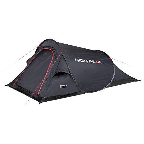 High Peak Campo 2 Pop-up tent voor 2 personen, festivaltent met bodem van de badkuip, super lichte snelopening-werptent, 1500 mm waterdicht, ventilatiesysteem, bescherming tegen muggen