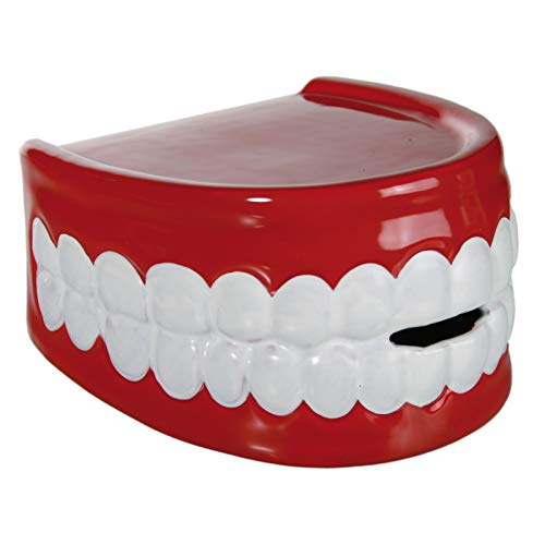 Preis am Stiel 2 x Spardose ''Gebiss'' | Zahnarzt | Sparbüchse | Geschenk Kinder | Dekoration | Sparschwein | Spardose | Gebiss