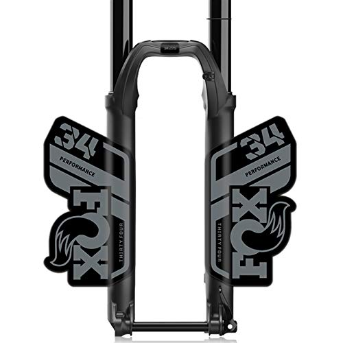 GZSC F-o-x Float 34 Performance Fork Sticker F-o-x34 Front Fork Decal MTB Bicycle Fork Stickers Bicycle Accessories bike stickers (Color : Dark gray blk btm)