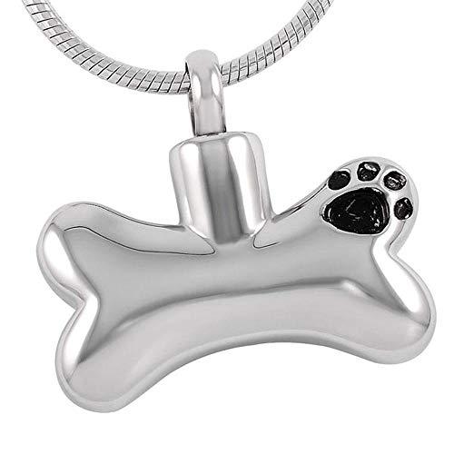 OPPJB Collar De Urna para Cenizascollar De Cenizas Conmemorativo De Pata De Perro De Seres Queridos