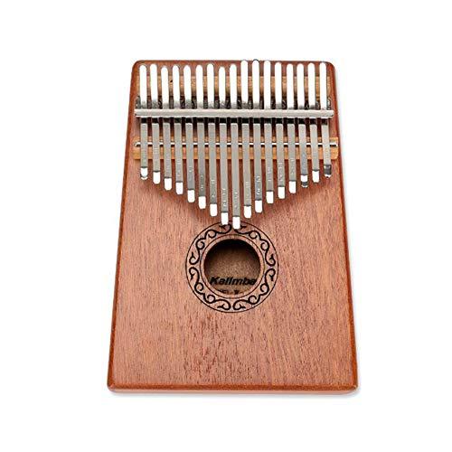 Newin Star Kalimba 17 Keys Daumenklavier, Mahagoniholz Piano African Musikinstrument mit Tuning Hammer Tasche Key-Aufkleber für Kinder Erwachsene Anfänger Beruf