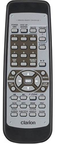 Clarion RCB177 Replacement Remote Control for MAX675VD, MAX675VDII, VRX765VD, VRX775VD