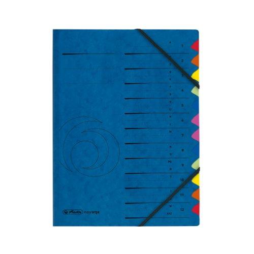 herlitz 5001128 Ordnungsmappe Quality 1-12 / A-Z, A4 , 12 Fächer mit Gummizug, 1 Stück