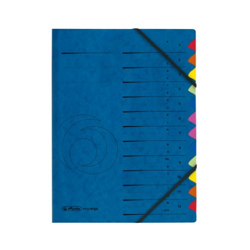 Herlitz 5001128 Ordnungsmappe A4 Colorspan, Register 40878 und A-Z, 355 g/qm