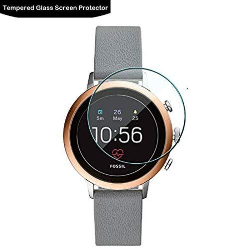 LOKEKE Protector de pantalla de vidrio templado de 41 mm para Fossil Sport de 41 mm para reloj Fossil Sport GPS, hecho de cristal real