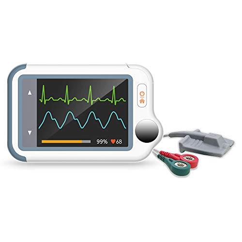 ViATOM Checkme Lite Plus Monitor Cardíaco, Bluetooth Monitor de ECG, Medidor Saturación Oxígeno, Monitor de Oxígeno para Bebés, Monitor de Salud Cardíaco Portátil, APP para iOS/Android, Informe de PC