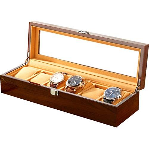 HAILIZI Caja de colección de relojes Caja de reloj de madera de...