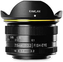 Kamlan 7.5mm f/3.2 Manual Focus Fisheye Lens for Micro Four Thirds Mount