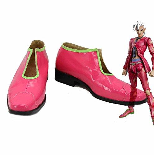 JoJo 's Bizarre Adventure 5Pannacotta Falttür Cosplay Schuhe Rot Stiefel Custom Made, Jungen Mädchen damen Herren, rot