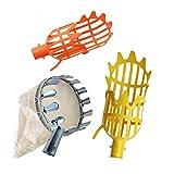 YepYes 4PCS Obstpflücker Set Leichte Frucht Catcher Teleskopobstpflücker Werkzeuge für die...