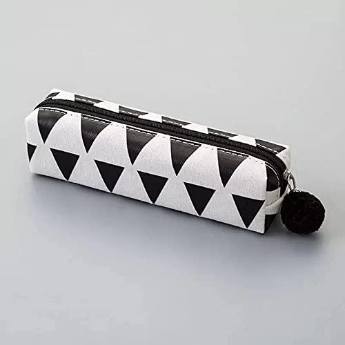 MRBJC Estuche para lápices, de lona, bolsa de almacenamiento, organizador de escritorio, organizador de marcador, bolsa de papelería, soporte para lápices, negro, 18 x 4,6 x 5,5 cm