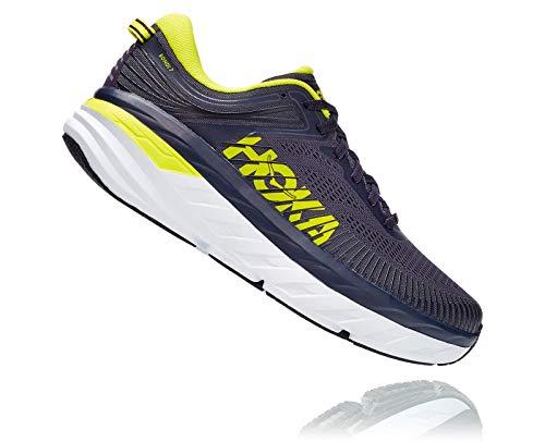 HOKA ONE ONE Men's Bondi 7 Running Shoe, Odyssey Grey/Deep Well, 10
