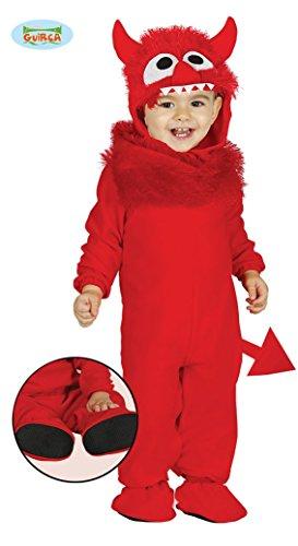 Giurca sl.- Disfraz de Diablo bebé 6/12 Meses, Color Rojo, de 6 a 12, 85829