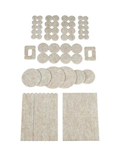The Felt Store Filzgleiter Musterteile, 64 Teile, beige, Bodenschutz, Tischbeine, Stuhlbeine - Made in Kanada