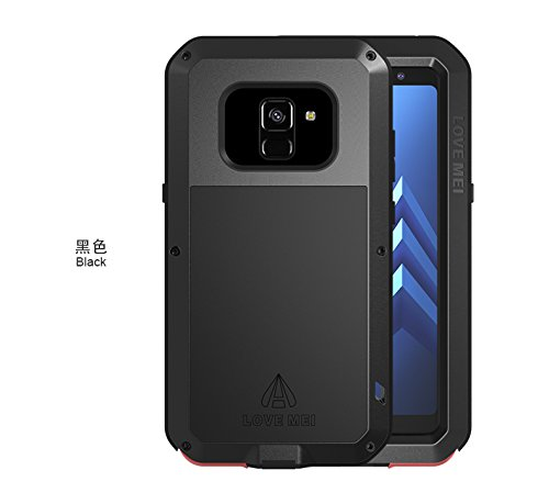 Lovemei - Carcasa protectora para Samsung A8 (2018) A530F, diseño de lovemei, compatible con Pour SAMSUNG A8 (2018) A530F, color negro