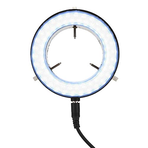 Ring Light Stereo Microscope Lamp, Long Service Life Microscope LED Lamp,Jewelry Repairing Lamp for Children Kids and Students Breeding Workers Amateurs with Microscope Eyepiece Cover(EU)
