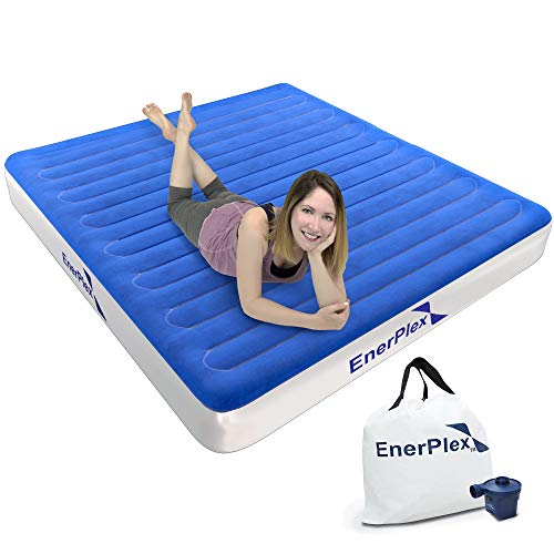 EnerPlex Never-Leak Camping Series Queen Camping Airbed with High Speed Pump...