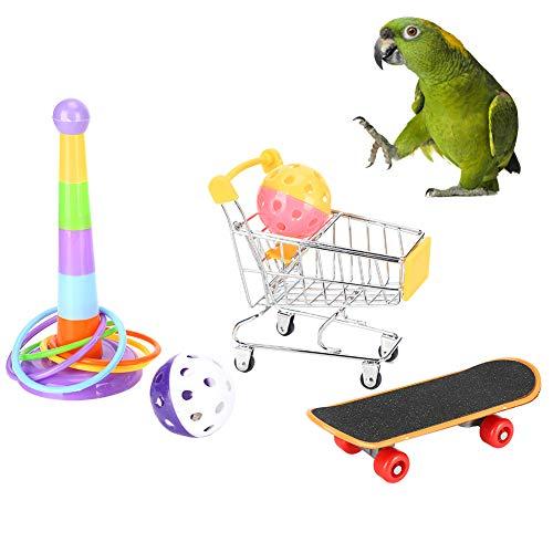 Papegaaienspeelgoed, Emotioneel Educatief Speelgoed 4-delig Speelgoed Met Papegaaien Winkelwagen Papegaaien…