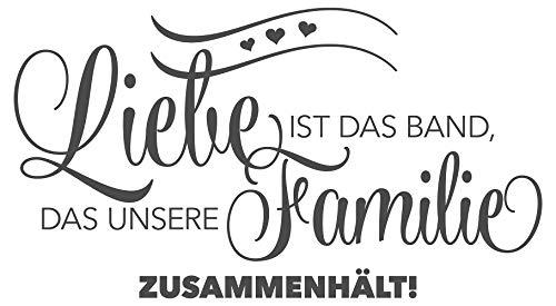 Wandtattoo Spruch Liebe ist das Band, das unsere Familie zusammenhält!